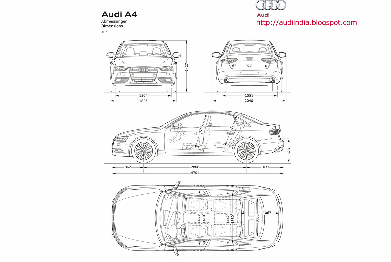 the world of audi  a4