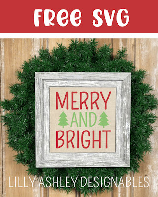 free Christmas svg lilly ashley designables