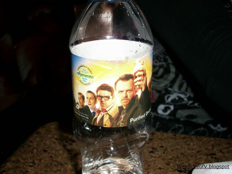 Free bottle of water courtesy of the The World's End film - Outside SDCC 2013