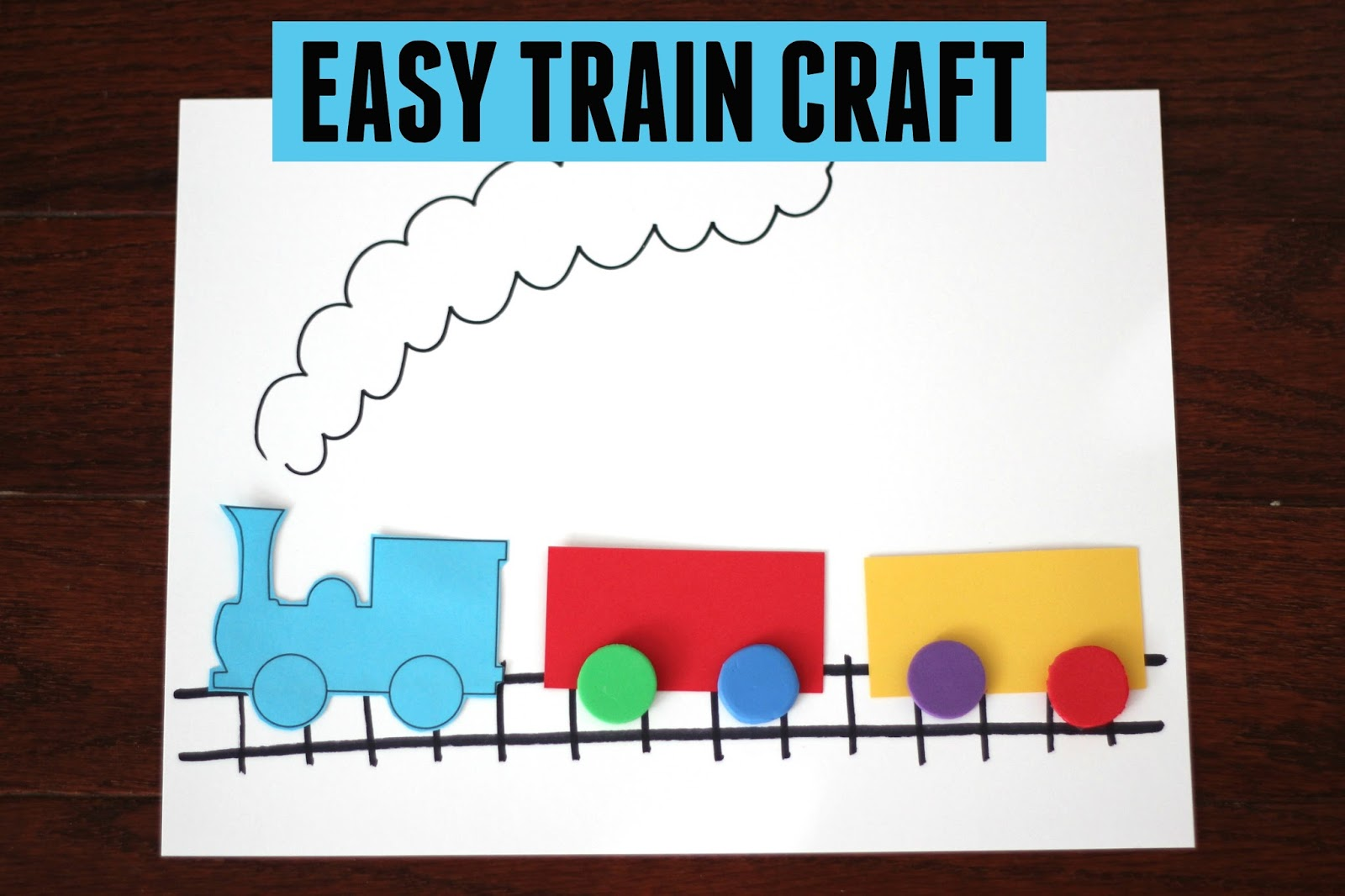 Toddler Approved Easy Train Craft For Kids