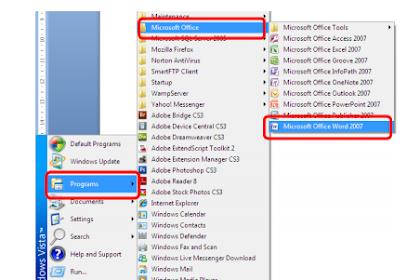 Menjalankan Microsoft Word 2007 dan mengenal tampilan interfacenya
