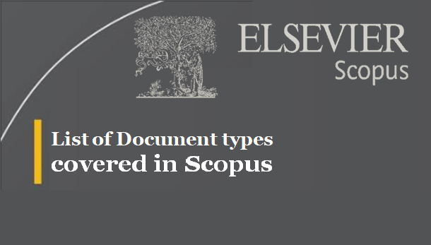 List of Document types covered in Scopus