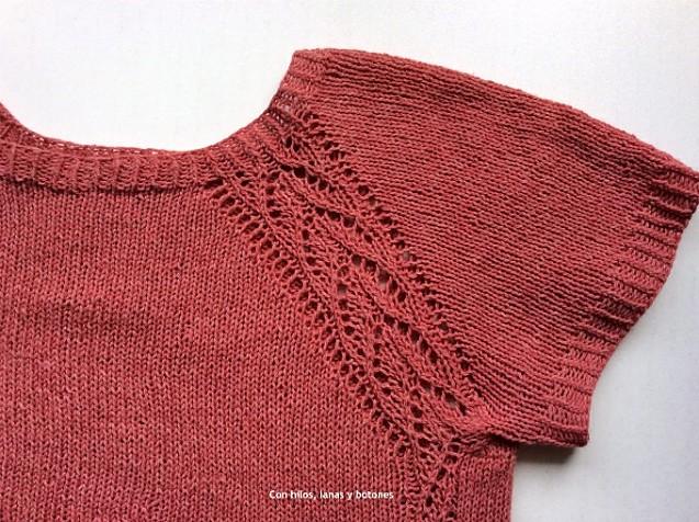 Con hilos, lanas y botones: Jersey Hiedra (patrón de Lola Dacosta)