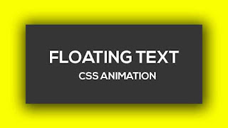 Pure CSS Floating Text Animation