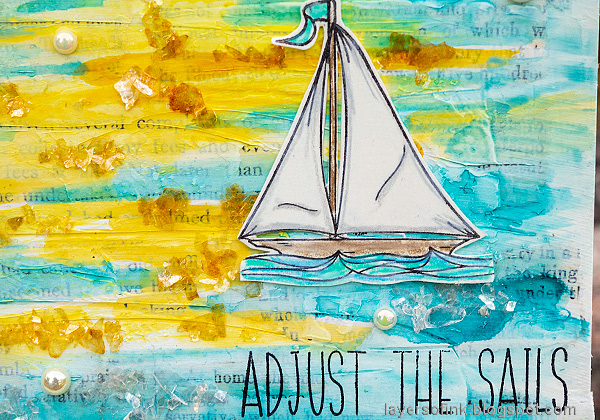 Layers of ink - Sunny Ocean and Beach Mixed Media Scene Tutorial by Anna-Karin Evaldsson. Simon Says Stamp Your Light.