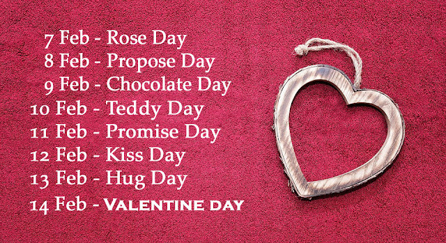 Happy Valentine Week List schedule with Date and Time