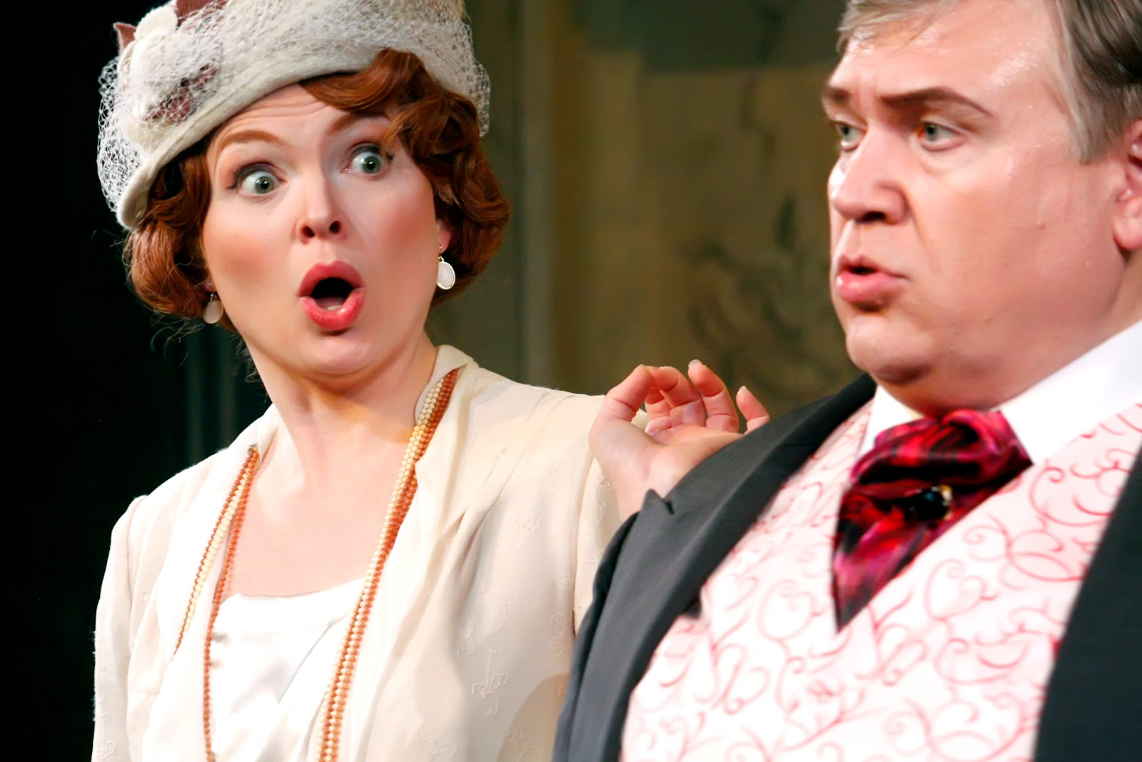 IN PERFORMANCE: Soprano ARIANA WYATT as Norina (left) and baritone STEVEN CONDY in the title rôle (right) in the Opera on the James production of Gaetano Donizetti's DON PASQUALE, April 2016 [Photo © by KG Thienemann/ImageArtWork.com]