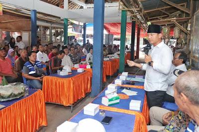Sosialisasikan Pembangunan Pasar Pon, Bupati Nur Arifin Berharap Selesai Tepat Waktu