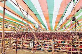 crowd at Mamata's meeting in Ghoshpukur