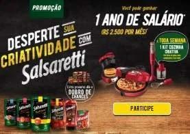 Cadastrar Promoção Salsaretti 1 Ano de Salário e Kits Cozinha