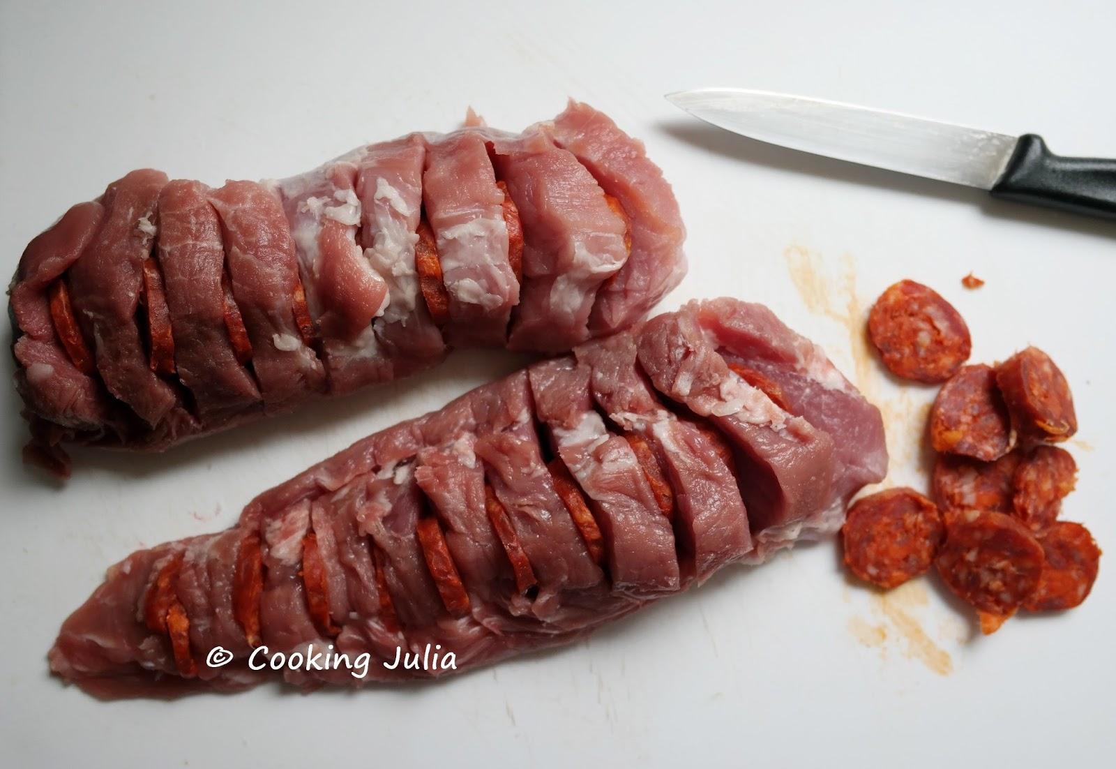 Cooking julia filet mignon de porc au chorizo - Cuisiner un filet mignon de porc au four ...
