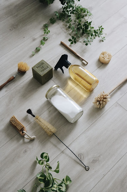 produits d'entretien écolos et brosses