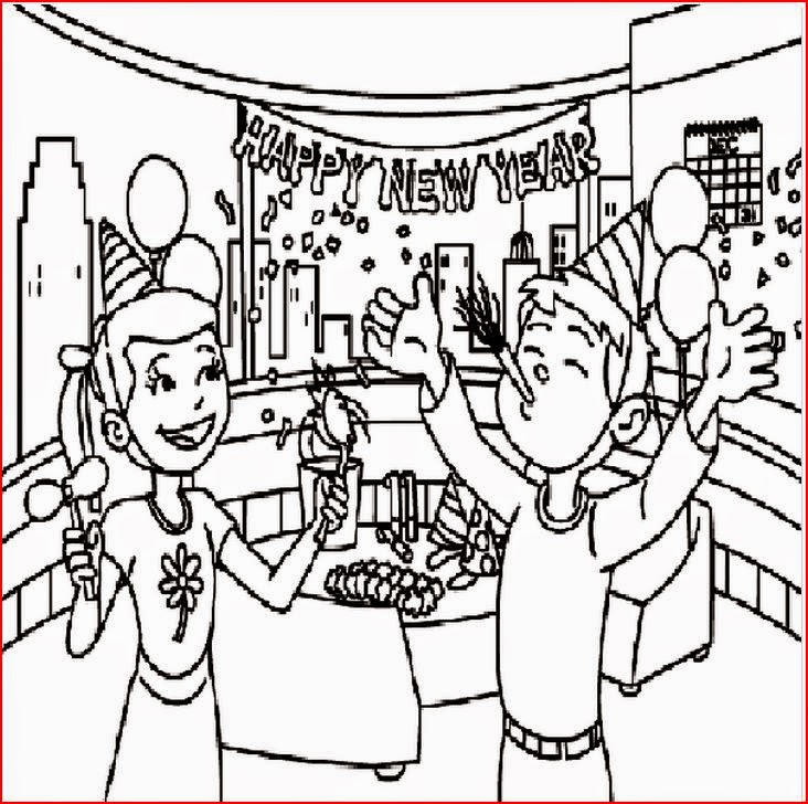 Coloring Pages: New Year's Coloring Pages Free and Printable