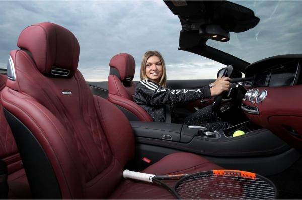 Modelul Mercedes pe care il conduce Simona Halep