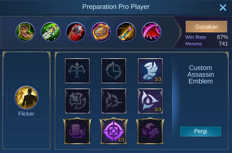 build item dyrroth mobile legends (ML)