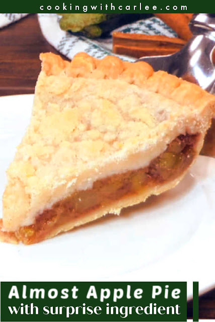 This apple pie has a secret, there isn't a single apple in it! Nope, it uses a summer vegetable instead. That's right, it's actually zucchini in there.  But I promise you it tastes like apple.  You are going to be shocked and amazed. Your guests will be flabergasted. Get some vanilla ice cream ready and promise me you will make this fabulous pie!