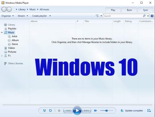 Dimana Windows Media Player di Windows 10?