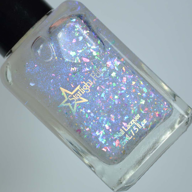 rainbow flakie nail polish topper