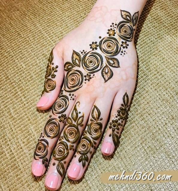 Back Hand Simple Mehndi Designs