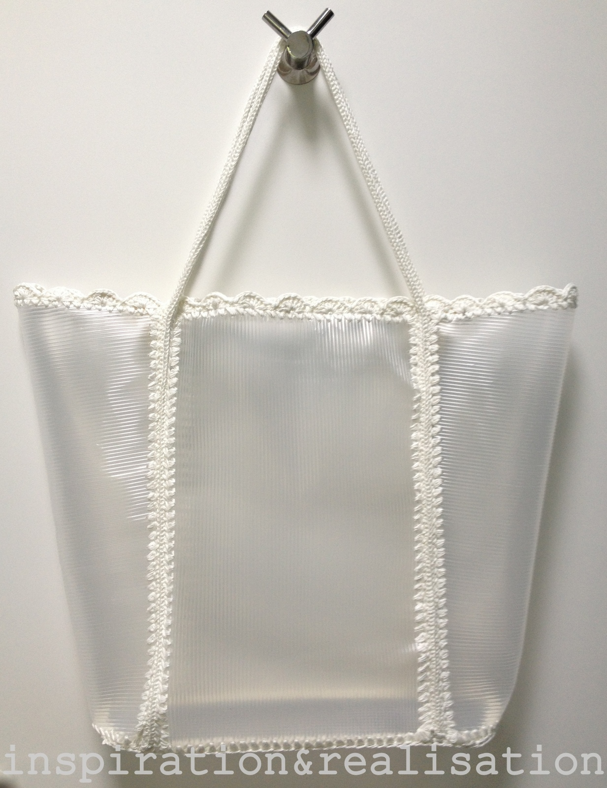 DIY Transparent Beach Tote Bag Tutorial
