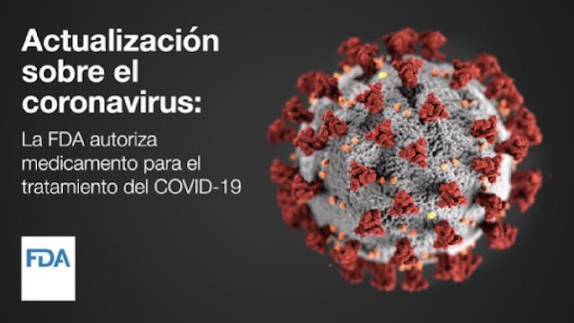La FDA autoriza un medicamento para el tratamiento del COVID-19