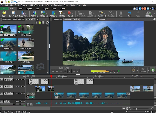 برنامج VideoPad Video Editor المجاني لتحرير الفيديو لمستخدمي Windows و Mac
