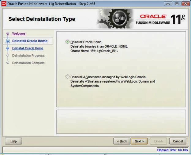 uninstall OBIEE 11g