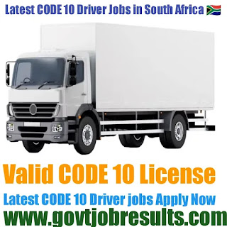 Code 10 Driver jobs in South Africa 2021-22