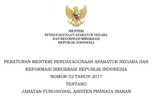Permenpan RB Nomor 32 Tahun 2017