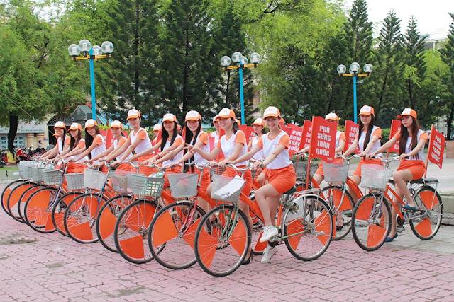 Roadshow xe đạp quảng cáo thương hiệu hiệu quả