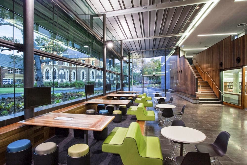 the lilley centre brisbane grammar school interior design cafeteria