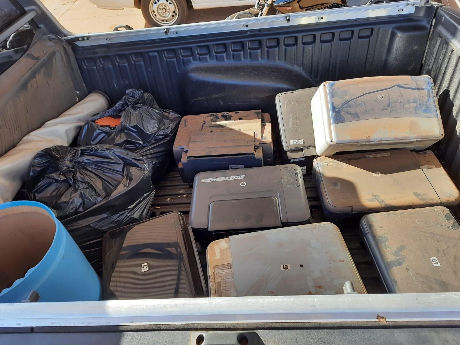 Cajobi e outras cidades da região recolhem mais de 1 tonelada de lixo eletrônico