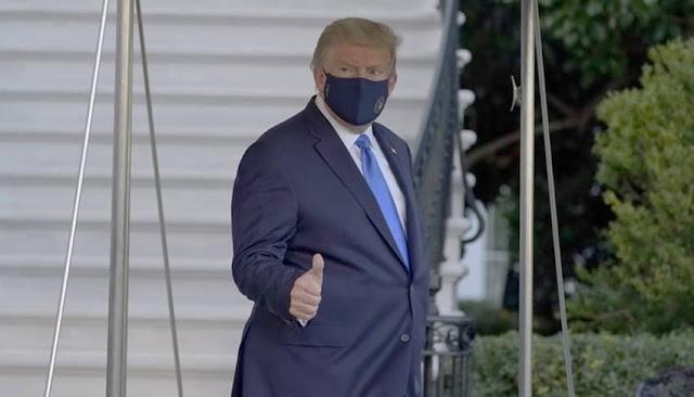Trump: presidente de EEUU pasará unos días en hospital militar por Covid-19