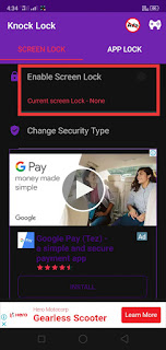 Knock lock screen applock