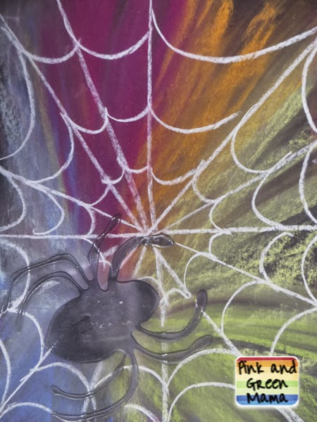 Make Spooky Spider Webs With Colored on Making Art With Kids Oil Pastels That Pop