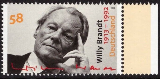 Willy Brandt, German lawyer and politician, 4th Chancellor of Germany, Nobel Prize laureate