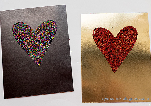 Layers of ink - Micro Bead Hearts by Anna-Karin Evaldsson. Brutus Monroe Simple Blended Heart.