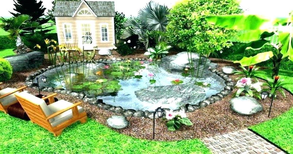 Cách trang trí sân vườn nhỏ với ao cá Koi