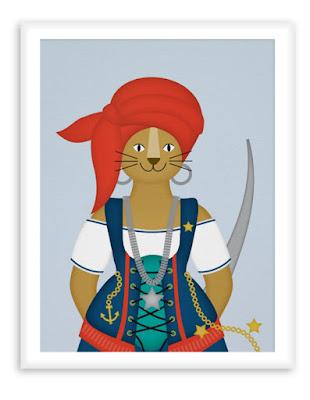 Poster Nursery Pirate Lion