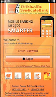 Syndicate bank Mobile banking application