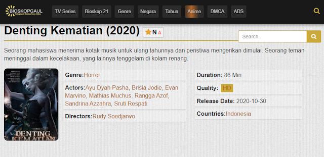 Nonton Film Denting Kematian (2020) Subtitle Indonesia Full Movie