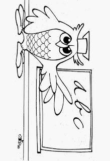 Desenho de coruja para colorir