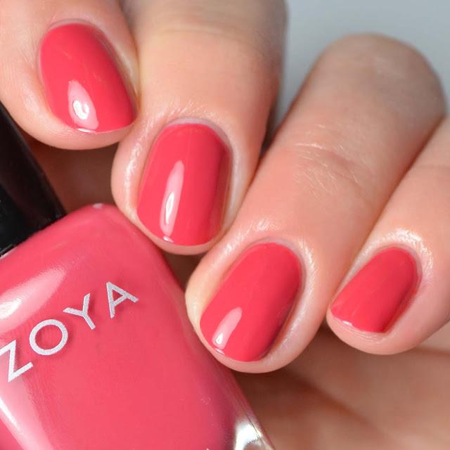 pink red nail polish