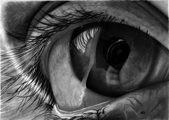 Hector Gonzalez hg-art deviantart ilustrações preto e branco com grafite olhos realistas cultura pop