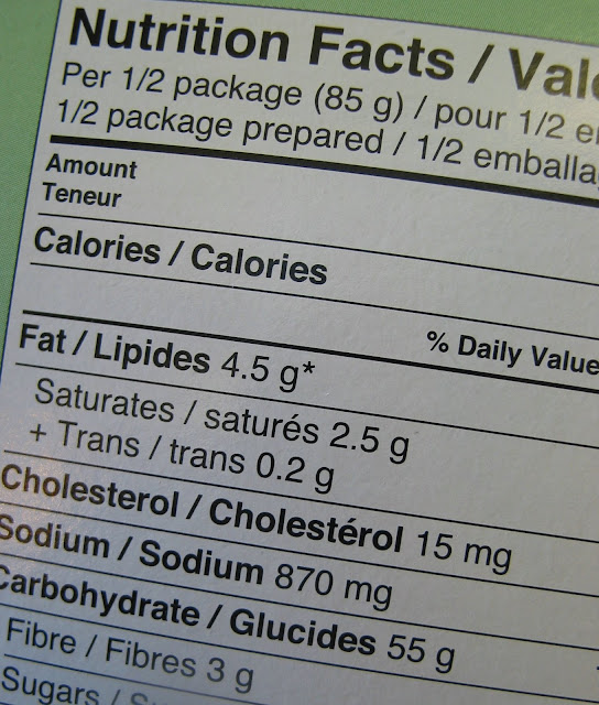 always check on food label for nutrition value
