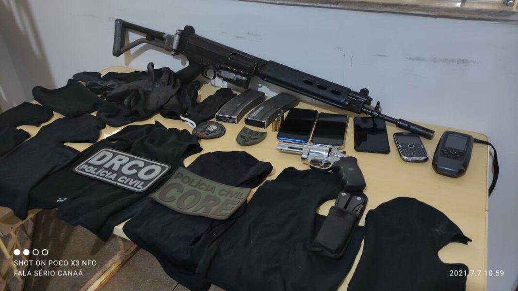 Em Canaã, polícia desarticula quadrilha especializada em roubo a banco, um bandido morreu e três foram presos