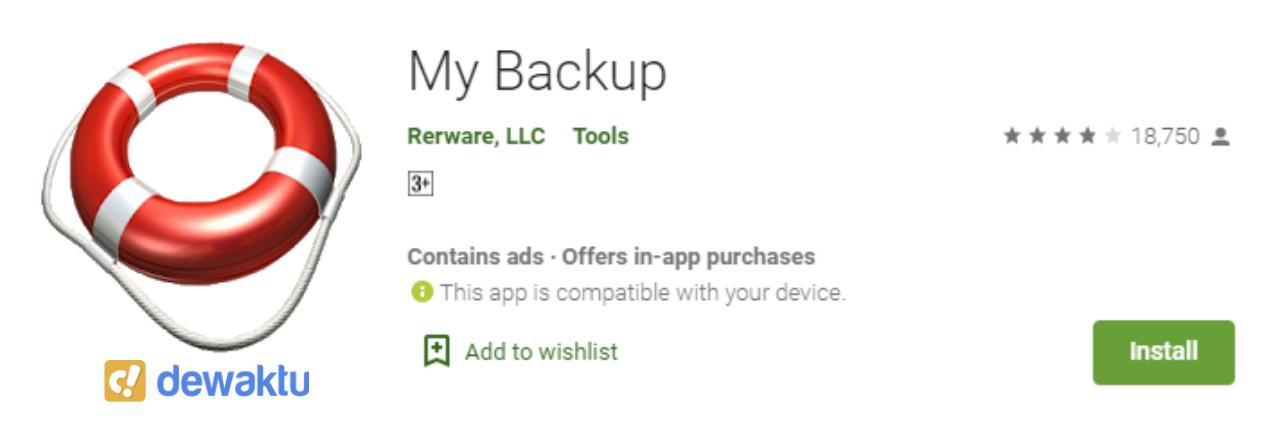 aplikasi untuk back up data android