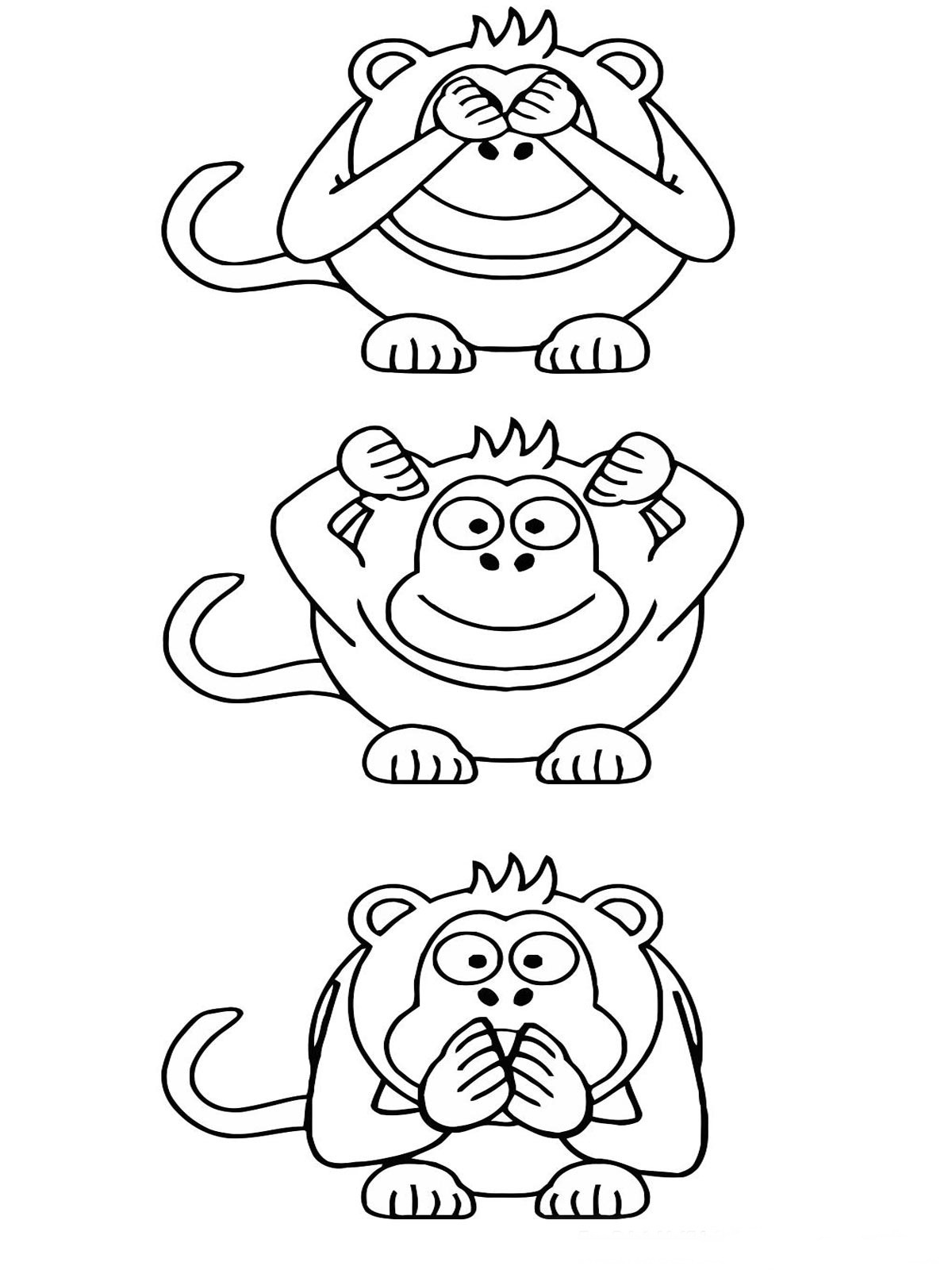 Apes Coloring Pages Realistic