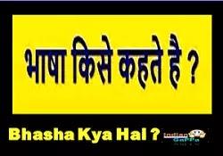 भाषा किसे कहते हैं - परिभाषा और भेद - Bhasha Aur Boli Mein Antar
