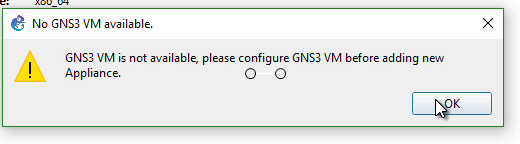 GNS3 Labs | CCNP | CCNA Labs: Gns3 vm is not available
